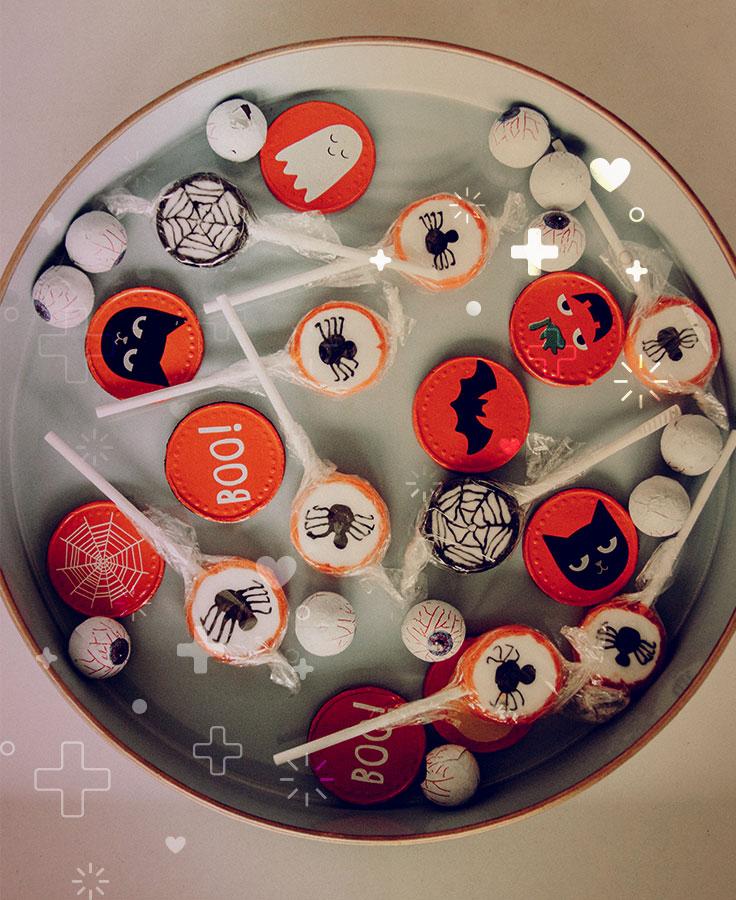 dar buenos dulces en Halloween